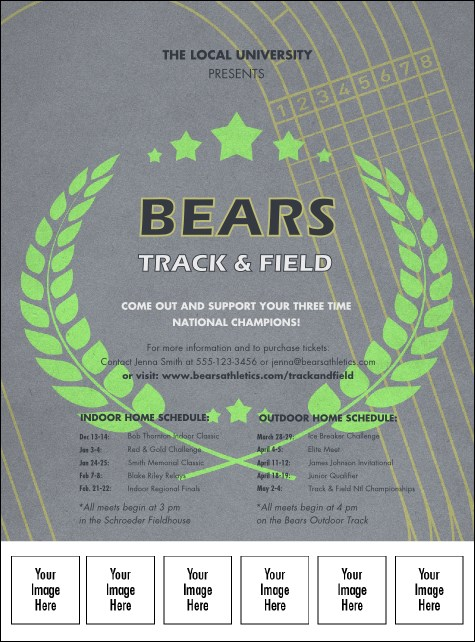 Track and Field Logo Flyer