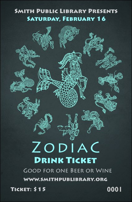 Zodiac Drink Ticket Product Front