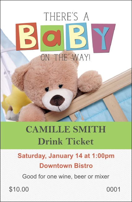 Baby Shower Teddy Drink Ticket