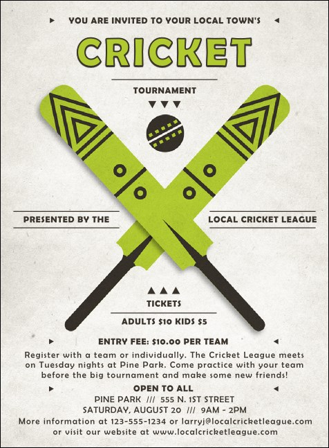 Cricket Invitation