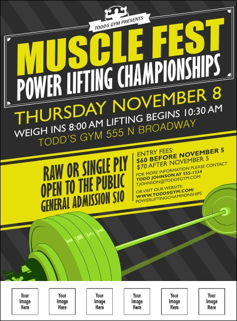 Power Lifting Logo Flyer