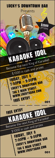 Karaoke Event Ticket