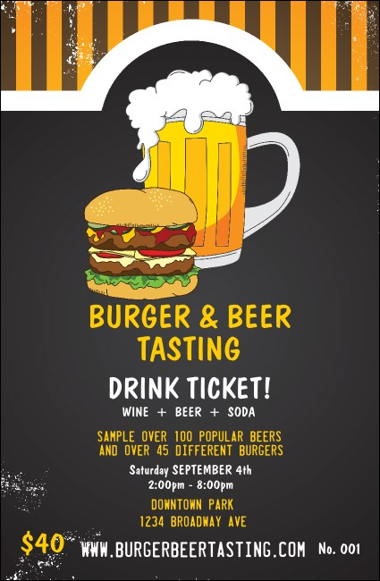 Burgers and Beer Drink Ticket