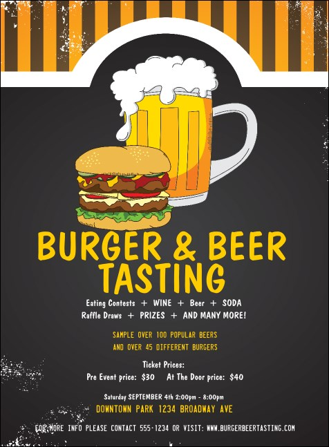 Burgers and Beer Invitation