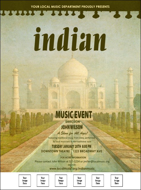 Indian Music Logo Flyer