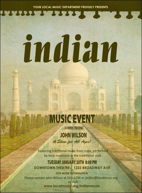 Indian Music Flyer