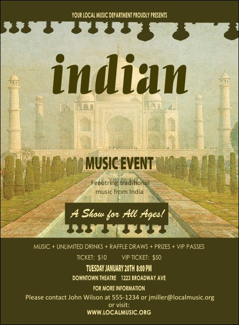 Indian Music Invitation