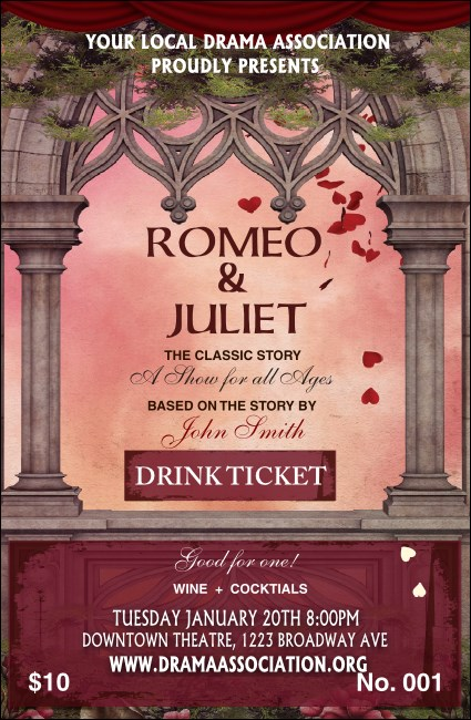 Romeo and Juliet Drink Ticket