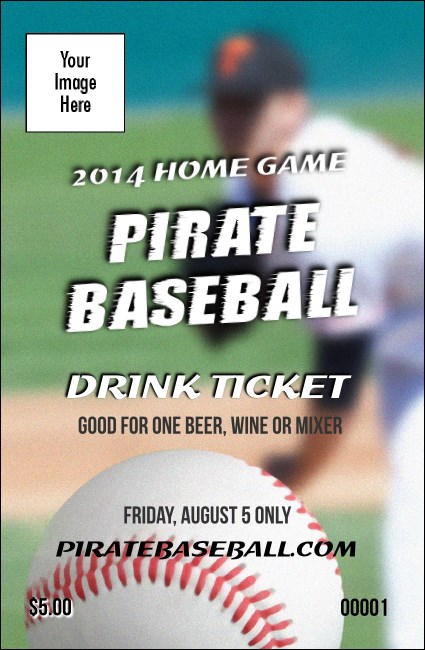 Baseball Schedule Drink Ticket