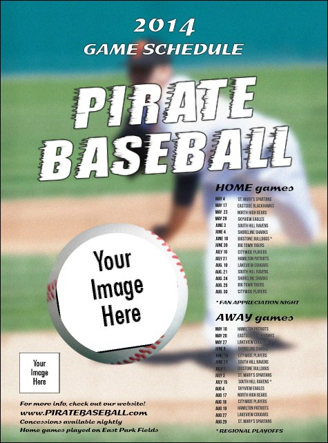 Baseball Schedule Flyer