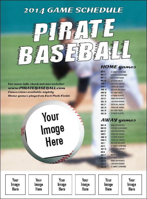 Baseball Schedule Logo Flyer