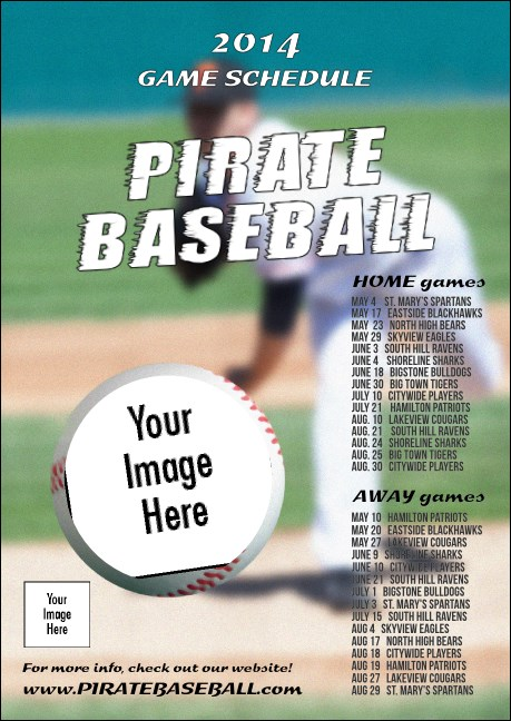 Baseball Schedule Postcard