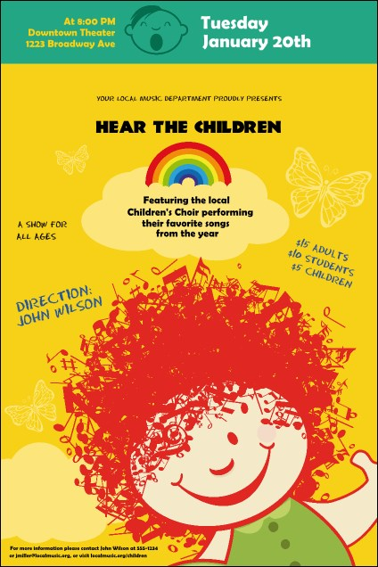 Children's Music Poster
