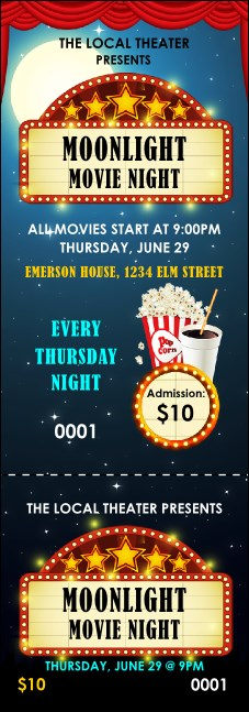 Movie Night Event Ticket