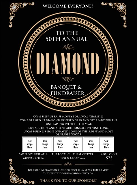 Diamonds Black Logo Flyer