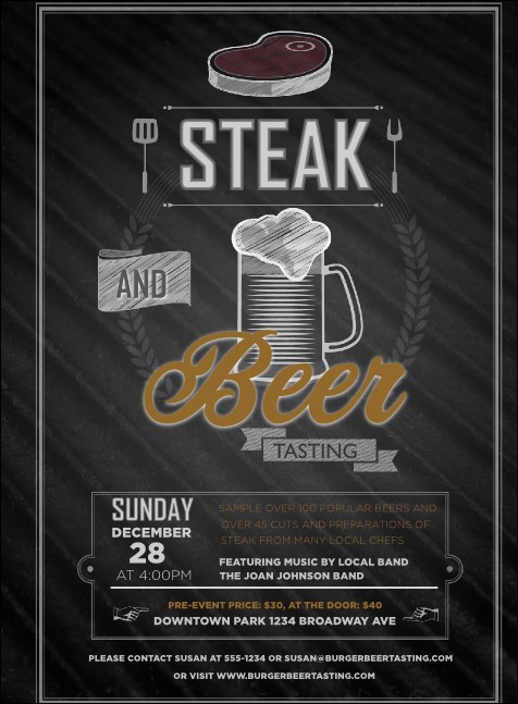 Steak & Beer Invitation