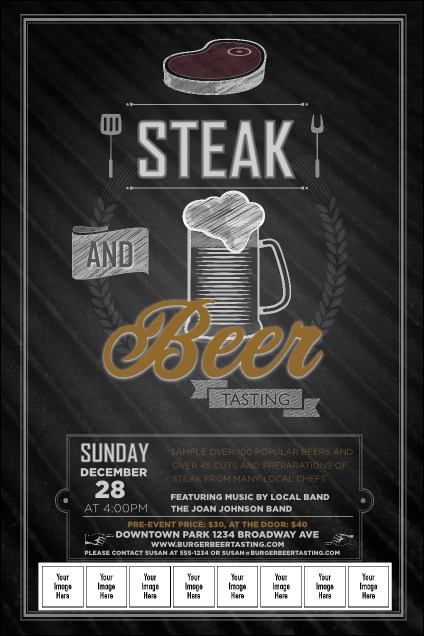 Steak & Beer Logo Poster