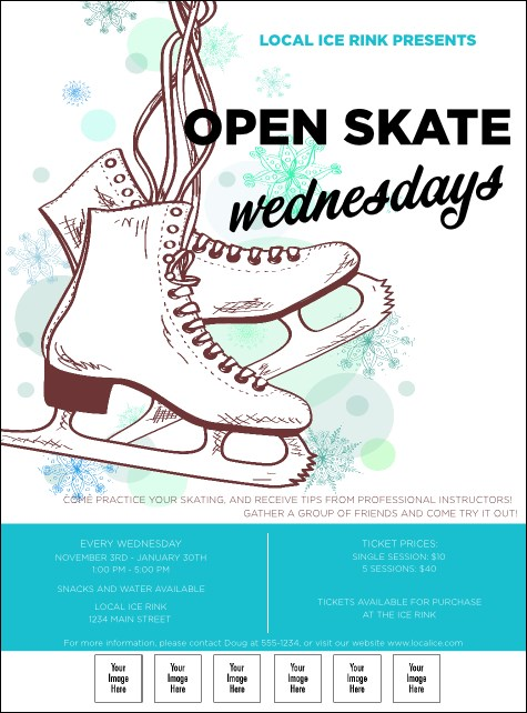 Ice Skating Logo Flyer