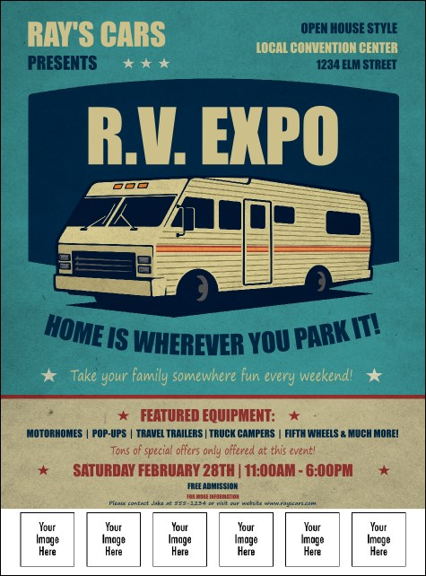 RV Expo Logo Flyer