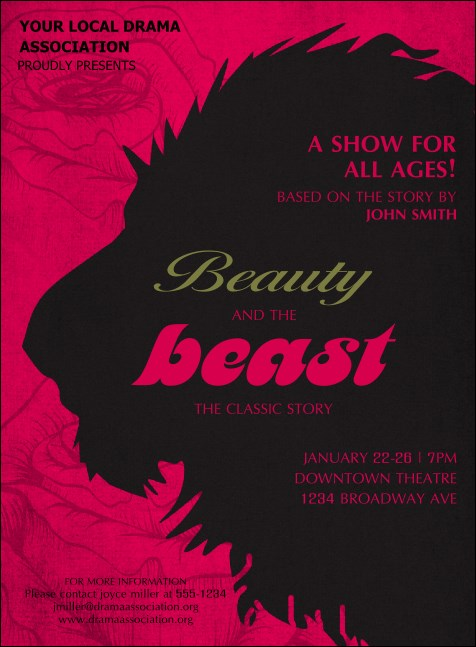 Beauty & The Beast Invitation Product Front