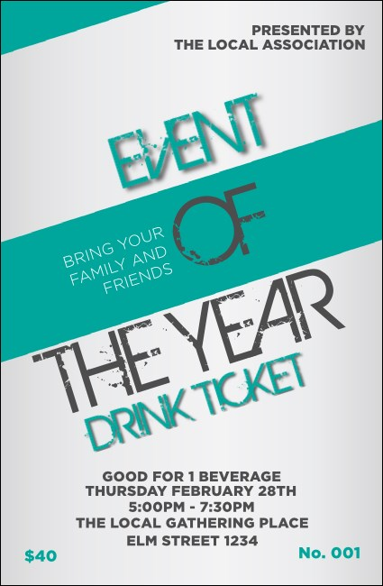 All Purpose Modern Drink Ticket Product Front