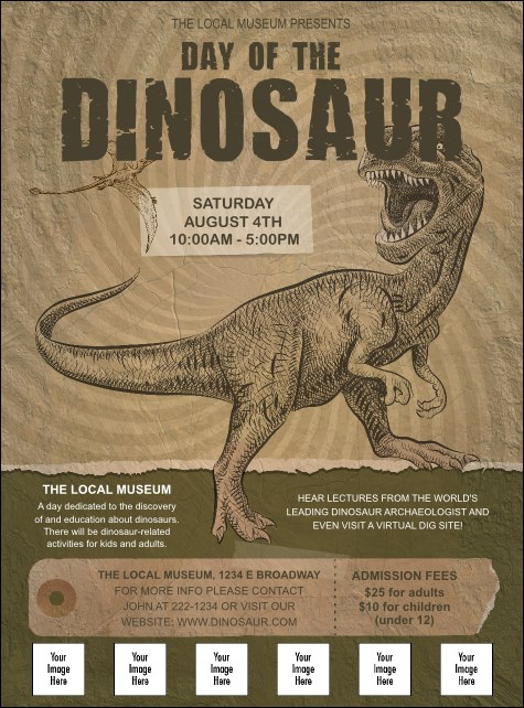 Dinosaur Illustrated Logo Flyer