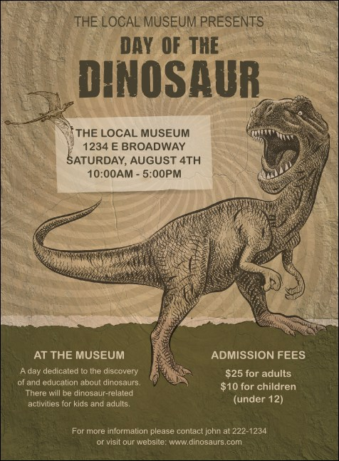 Dinosaur Illustrated Invitation