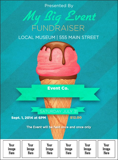 Ice Cream Logo Flyer