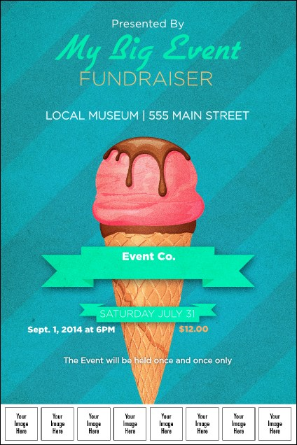 Ice Cream Logo Poster