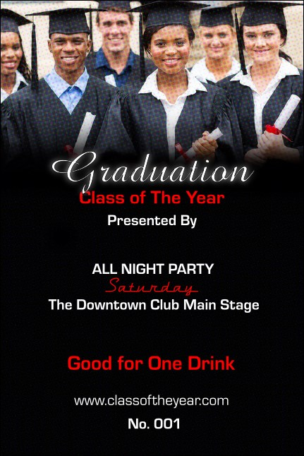 Graduation Drink Ticket Product Front