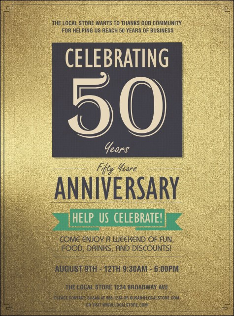 50th Anniversary Flyer