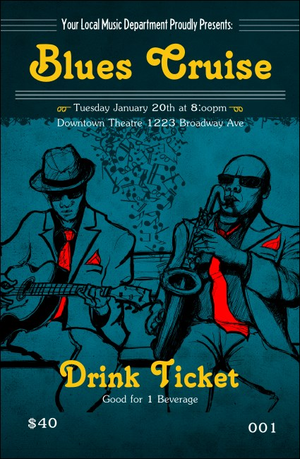 Blues Cruise Drink Ticket