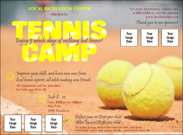 Tennis Camp Logo Flyer