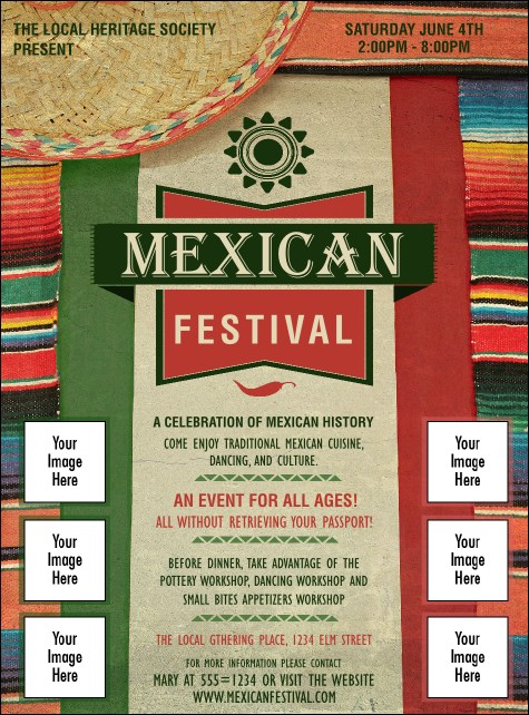 Mexican Hat Logo Flyer