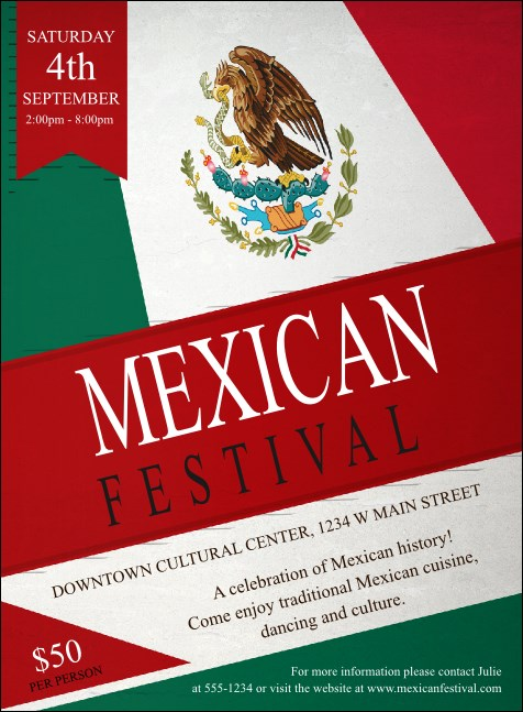 Mexican Flag Invitation