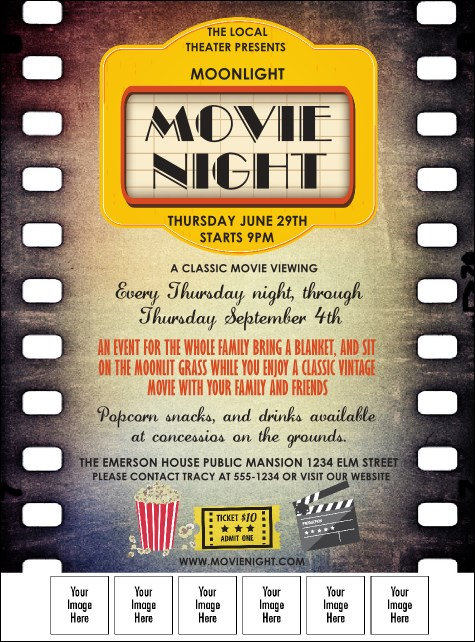 Movie Strip Logo Flyer