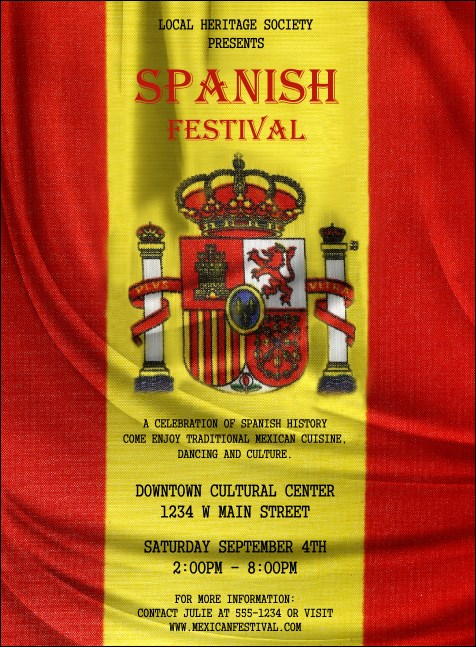 Spanish Flag Invitation