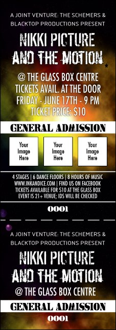 Galaxy Hip Hop Yellow Event Ticket