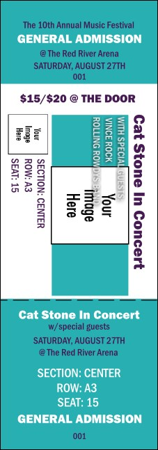 Big Logo Turquoise Reserved Event Ticket