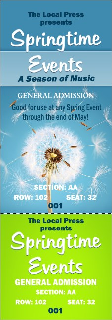 Dandelion Reserved Event Ticket