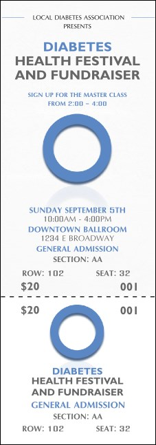 Diabetes Reserved Event Ticket
