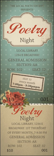 Poetry Reserved Event Ticket