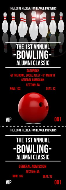 Bowling Classic Reserved Event Ticket