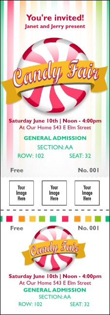 Candy Reserved Event Ticket