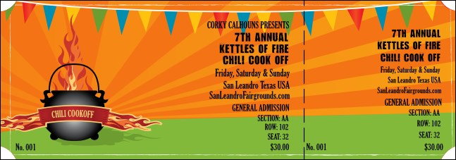 Chili Cookoff Reserved Event Ticket