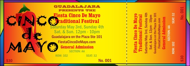 Cinco de Mayo 001 Reserved Event Ticket