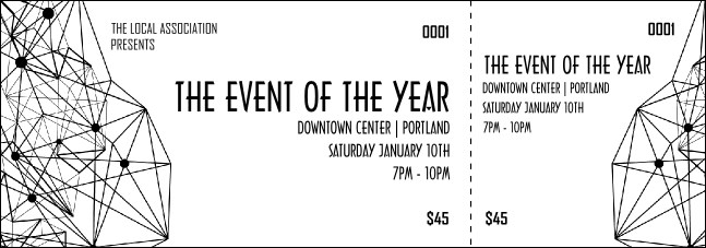 All Purpose Geometric Black and White Event Ticket