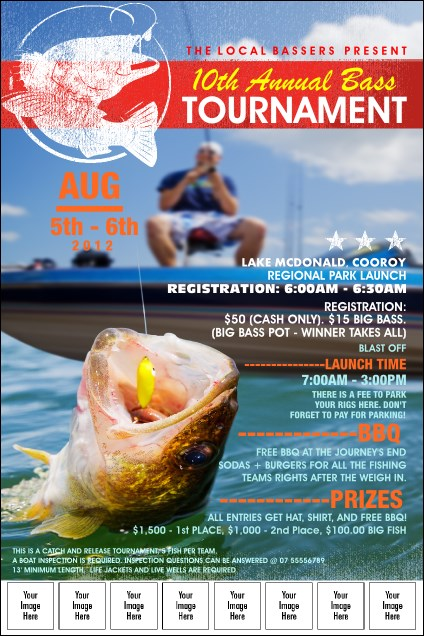 Bass Tournament Flyer Template Heartpulsar