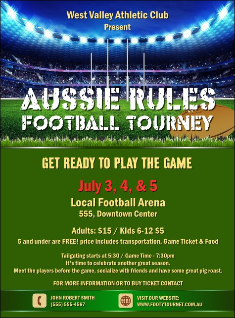 Aussie Rules Football 2 Flyer