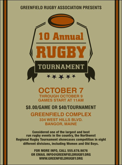Rugby Tournament Flyer